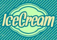 Striped Ice Cream PSD Background