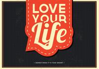 Love Your Life PSD Contexte