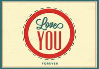 Love You Forever Love PSD Background