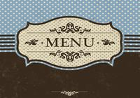 Blue Menu PSD-mall