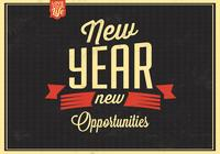 Vintage New Year PSD Background
