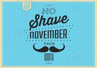 Vintage No Shave november psd bakgrund