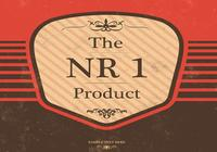 Vintage Product PSD Badge and Background