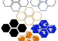 Regular & Distressed Hexagon Bürsten