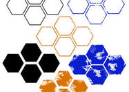 Regular & Distressed Hexagon Brushes