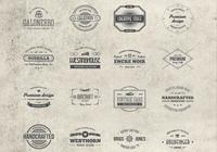 16 PSD-collectie Vintage Badges