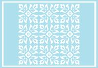 Motif de photoshop d'ornement floral bleu