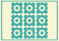 Teal Floral Photoshop Patrón