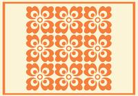 Orange Floral Photoshop Mönster