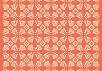 Orange Floral Photoshop Mönster Två