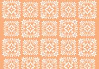 Retro Orange Ornament Photoshop Pattern