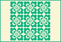 Groen Ornament Photoshop Patroon Twee