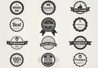 Black and White Premium Badges PSD Set