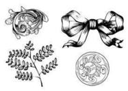 Gratis Etched Ornament Pensels