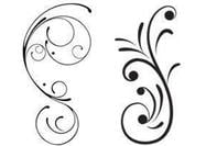Free Swirly Floral Scrolls Brushes