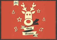 Merry Christmas Reindeer PSD Background