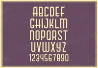 Retro Alphabet PSD Set