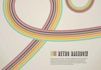 Retro Rainbow Line PSD Background