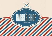 Retro Barber Shop PSD Background