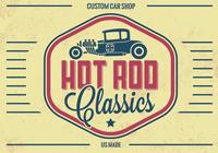 Vintage Hot Rod PSD Background