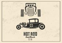 Retro hot psd background