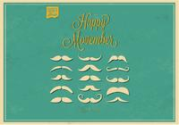 No Shave Movember Moustaches PSD Set