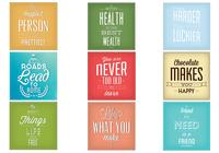 Vintage Typography PSD Background Set