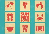 Sommer Icons PSD Set