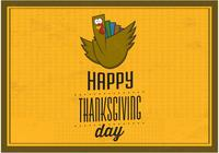 Happy Thanksgiving PSD Hintergrund