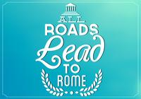 Teal All Roads Lead to Rome PSD Contexte