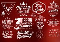 Typographic Christmas PSD Elements