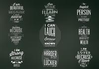 Vintage Chalkboard Quote Badges PSD Set