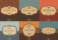 Étiquette vintage psd background pack