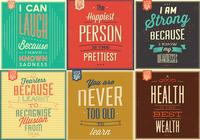 Citation de motivation vintage psd background pack