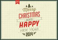 Vintage Evergreen Christmas PSD Background