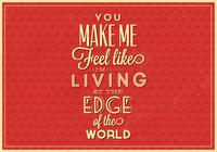 Living on the Edge PSD Typografisch Poster