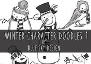 Winter-character-brushes-doodles-1