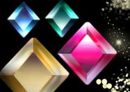 Hi-res angled gems psds