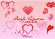 Hearts-brushes-collection