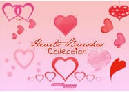 Hearts Brushes Collection
