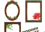 Quadros de madeira de fantasia PSDs