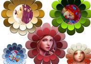 Funky Blumenrahmen PSD
