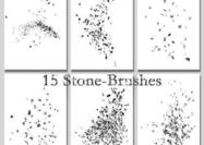 Stone-pebble-brushes