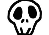 Skully skull brush