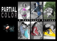 ACTION PHOTOSHOP COULEUR PARTIELLE © MZ