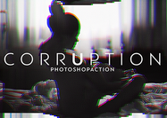 Action Corrupted VHS 3D Photoshop