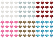 Sparkly Heart Dot Patterns