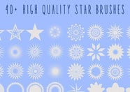 40+ stars photoshop brushes