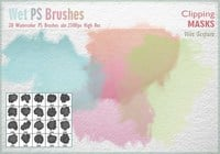 Aquarell Mask PS Brushes
