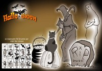 20 Halloween PS-borstar abr